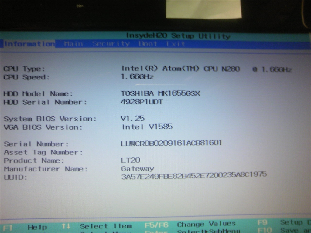 価格 com - 『bios insydeh20 updated』Gateway LT2000-21K